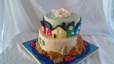 gâteau qui représente les Iles de la Madeleine
