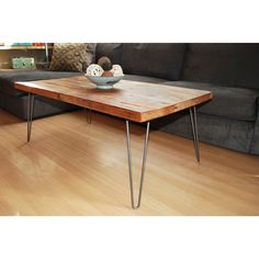 Farmhouse Coffee Table - Reclaimed Wood - Industrial Chic Collection - Dot & Bo