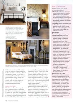 Black-painted mahogany sleigh bed from Simon Horn. http://www.simonhorn.com/ The English Home October 2016
