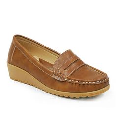 daf491b9795c0e Love this Tan Penny Loafer on  zulily!  zulilyfinds Penny Loafers