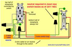 updated diagram for two switches to control one receptacle rh pinterest com wiring household outlets in series Outlet Wiring Diagram
