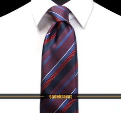 Lacivert Kırmızı Mavi Çizgili Yüksek Kalite İpek Kravat 4668  8,1 cm. Klasik Stil, Yüksek Kalite %100 İpek Kumaş...  http://www.sadekravat.com/lacivert-kirmizi-mavi-cizgili-yuksek-kalite-ipek-kravat-4668  #tie #tieoftheday #pocketsquare #örgükravat #ketenkravat #ipekkravat #slimkravat #bordokravat #mürdümkravat #ortaincekravat #incekravat #gömlek #ceket #mendil #kravatmendilkombin #ofis #bursa #türkiye #çizgilikravat #şaldesenlikravat #ekoselikravat #küçükdesenlikravat #düzkravat #sadekravat