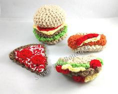 Play food crochet food crochet toys toddler toys play