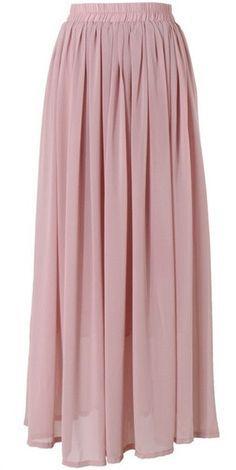Conservative Modest full length pink dusty rose maxi skirt | Mode-sty tznius fashion style hijab muslim islamic mormon lds jewish christian no slit