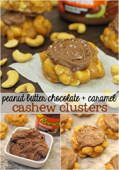 Peanut Butter Chocolate + Caramel Cashew Clusters Recipe #AnySnackPerfect #shop