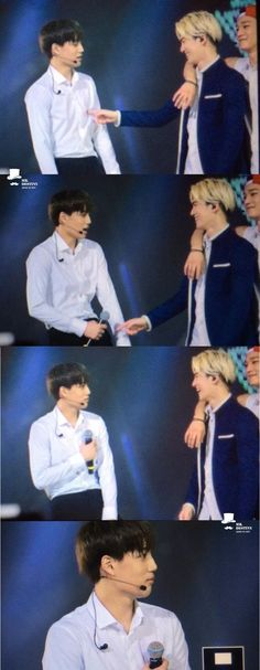 LOL Kai's expression tho hahaha! Suho gdi you spoiled brat XD