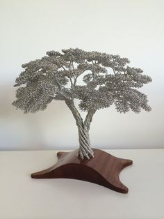 Wire Tree Sculpture by Clive Maddison.