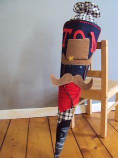 Schultüten - Schultüte 'Cowboy' - ein Designerstück von kleine-schwester bei DaWanda