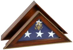 Urns Northwest  - Five Star General Military Flag Case, $399.00 (http://urnsnw.com/five-star-general-military-flag-case/). Made in the USA.