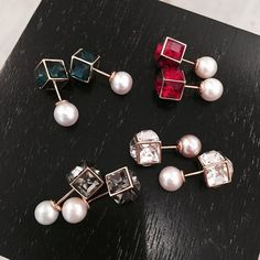 """""""Jewel tones and pearls from @vitafede to brighten up this gloomy day! """" Photo taken by @jlminkoff on Instagram, pinned via the InstaPin iOS App! http://www.instapinapp.com (07/30/2015)"""