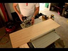 How to join 2 pieces of wood seamlessly using a biscuit joiner Diy Craft Projects, Diy Crafts, Biscuit Joiner, Wood Tools, Woodworking Videos, Joinery, Bamboo Cutting Board, Home Appliances, Wood Working