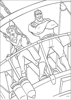 Atlantis, Coloring Pages
