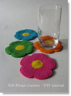 "How to find time to craft! & a ""Flowery felt coaster tutorial"" · Felting 