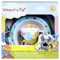 Woezel en Pip serviesset - 5-delig - blauw