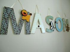 Custom Hanging Wall LettersJungle Boogie Theme by displayyourheart, $10.00
