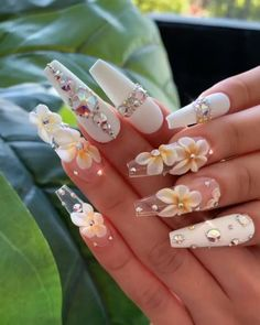 Nail art is the essence of decent beauty as nails speak volume about you. Traveled through the ancient tales of art and beauty, nail art now has become an ocean of more or less defined sense of self. Best Acrylic Nails, Summer Acrylic Nails, Acrylic Nail Designs, Nail Art Designs, Pastel Nails, Summer Nails, Bling Nails, Swag Nails, My Nails