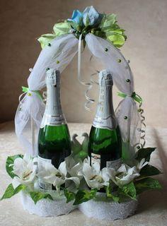 Gallery.ru / Декор Шампанского в виде сердца - 1 - Ryazanochka-II