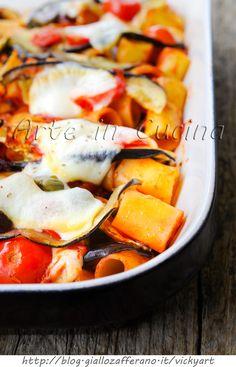 Pasticcio di melanzane e pasta con olive e capperi vickyart arte in cucina