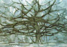 Mondrian-  Alberi sull'acqua