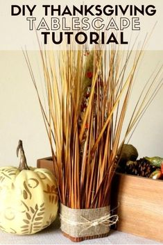 This year DIY a beautiful Thanksgiving Tablescape with these 5 project tutorials. Pieces can be used alone as home decor, or together for a festive fall tablescape. #thecraftyblogstalker #thanksgiving #centerpiece #tablescaped #diythanksgiving Family Thanksgiving, Thanksgiving Tablescapes, Easy Diy Crafts, Fall Diy, Craft Tutorials, Holidays And Events, Fun Projects, Diy Tutorial, Centerpiece