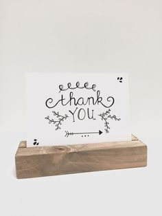 """Een bedankje zeg je met het """"thank you"""" kaartje."""