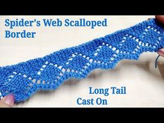 Knitting Patterns Jumper Spider's Web Motif Scallop Knitted Border on Long Tail Cast on Cast On Knitting, Knitting Videos, Baby Knitting, Loom Knitting, Knitting Stitches, Knitting Tutorials, Free Knitting, Lace Knitting Patterns, Knitting Designs