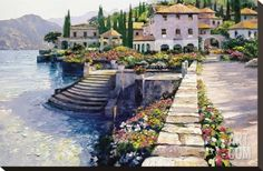 Stairway to Carlotta Stretched Canvas Print by Howard Behrens at Art.com