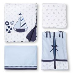 Little Sailor 10 pc (without bumper) Crib Set by Bacati