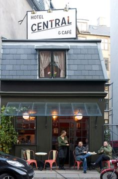 This adorable neighborhood staple is also the world's smallest hotel (it has only one room!). The cafe serves sandwiches, organic ice cream, and fresh juice, and uses coffee beans from a local Danish company.  centralhotelogcafe.dk   - Delish.com