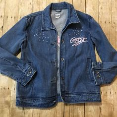 e989c04e332c1 Vintage 80s 90s George Strait Denim Jacket Embroidered Strait Girl Country  XL