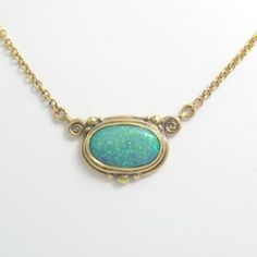 Double Hung Opal Necklace by Caleb Meyer Studio