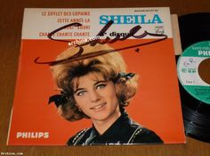 """French 45t EP (7"""") SHEILA le sifflet des copains (Dédicace, autographe, signé)"""
