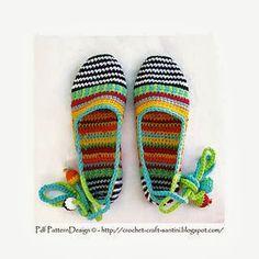 Labores en Red: 1964- Complementos: Zapatillas de Crochet
