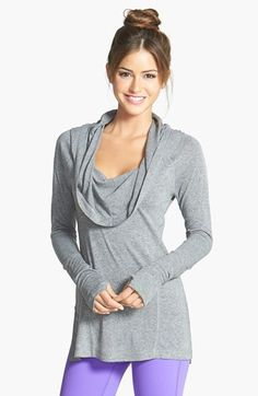 Free shipping and returns on Zella 'All Shirred Up Too' Pullover at Nordstrom.com. Shaped by ruching, a soft, sweater-knit pullover is topped with a sumptuous cowl neck that can be styled as a draping hood on your way out of the studio.
