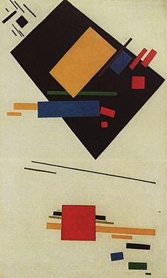 Peinture suprématiste, 1915, Kasimir Malevitch