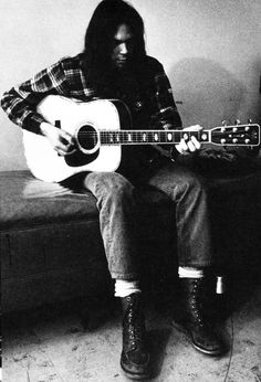 Neil Young and his Red Wing 877s