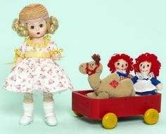 MADAME ALEXANDER Marcella Takes A Trip with Raggedy Ann & Andy Wendy Set #madamealexander
