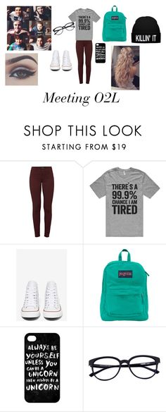 """Outfit #31"" by blueeyedbaby7 ❤ liked on Polyvore featuring J Brand, Converse, JanSport and Bellezza"