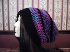 Teen Adult EXTRA Slouch Hat Rainbow Slouchy by MarlowsGiftCottage, $22.00