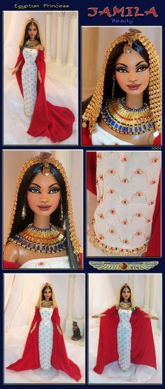 egyptian princess jamila barbie repaint