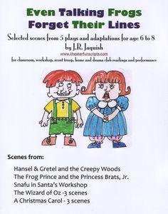 FREE Readers Theater! theaterfunscripts.com 'Talking Frogs' Scene Books