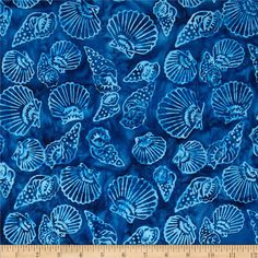 "NOT AVAILABLE @ Fabric.com Tonga Batik Neptune Shells Navy 44"" wide Timeless Treasures Fabric.com $10.98/yard"