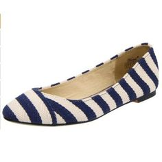 Wanted Shoes Women's Ahoy Skimmer Navy Stripe Beach Wedding Bridesmaids, Bridesmaid Shoes, Nautical Stripes, Striped Flats, Classy Casual, Party Shoes, White Shoes, Ballet Flats, Zapatos