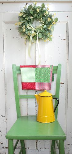 Painted Chair and Pot Cupboard