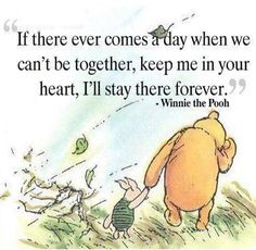 Whenever we are apart, keep me close in your heart :)