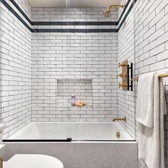 Spacious and spa-like. Our Grove Brickworks tile in a bath by @raychelwade. #ThePerfectBath