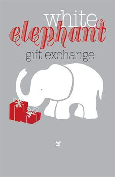 New design the white elephant really stand out with candy cane new design the white elephant really stand out with candy cane background a perfect gift exchange party invite white elephant gift exchange negle Choice Image
