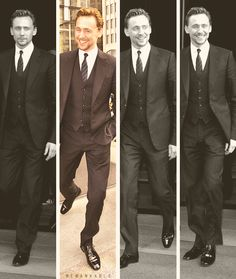 "Tom Hiddleston...in a suit...I think he's overtaken Matt Bomer for ""who wears a suit best"""