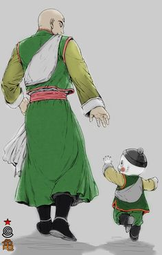 Tien Shinhan & Chiaotzu. I just really love them so much.