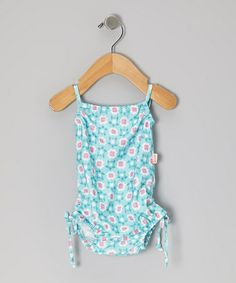Take a look at this Aqua Geo Turtle One-Piece - Infant, Toddler & Girls by water wear on #zulily today!